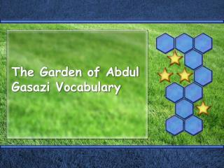 The Garden of Abdul Gasazi Vocabulary