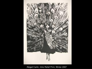 Abigail Carlin, Intro Relief Print, Winter 2007