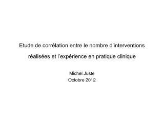 Michel Juste Octobre 2012