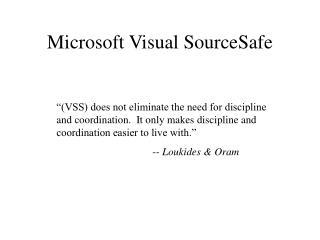 Microsoft Visual SourceSafe