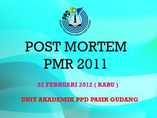 POST MORTEM PMR 2011