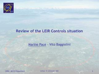 Review of the LEIR Controls situation