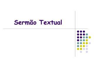 Sermão Textual