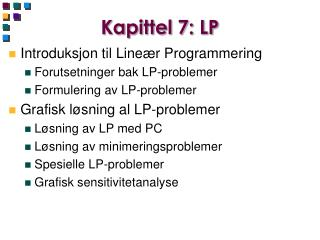 Kapittel 7: LP