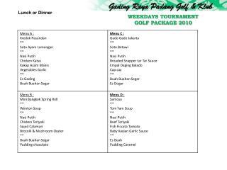 Gading Raya Padang Golf & Klub