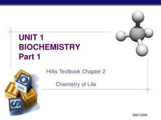 UNIT 1 BIOCHEMISTRY Part 1
