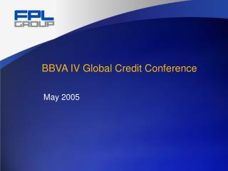 BBVA IV Global Credit Conference