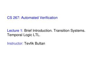 State of the art in automated verification:  Model Checking