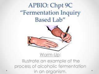 "APBIO:  Chpt  9C ""Fermentation Inquiry Based Lab"""