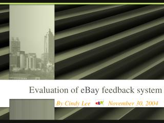 Evaluation of eBay feedback system