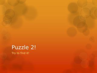 Puzzle 2!
