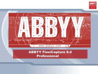 ABBYY FlexiCapture 8.0  Professional