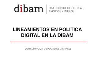LINEAMIENTOS EN POLITICA  DIGITAL EN LA DIBAM