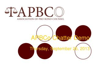 APBCo Chatter Demo