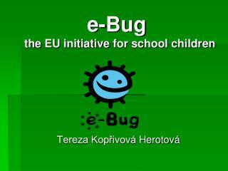 e-Bug the  EU  initiative for school children