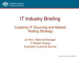IT Industry Briefing
