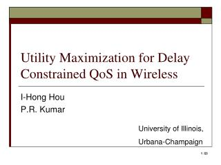 Utility Maximization for Delay Constrained QoS in Wireless