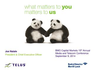 BMO Capital Markets 15 th  Annual Media and Telecom Conference September  9 ,  2014