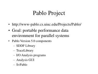 Pablo Project