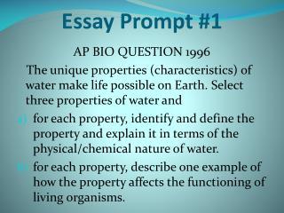 Essay Prompt #1