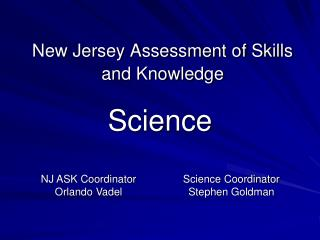 New Jersey Assessment of Skills and Knowledge