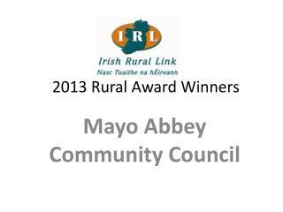 2013 Rural Award Winners