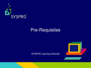 SYSPRO Learning Channel