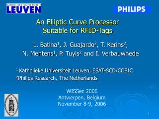 An Elliptic Curve Processor  Suitable for RFID-Tags