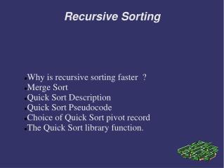 Recursive Sorting