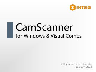 CamScanner for Windows 8 Visual Comps
