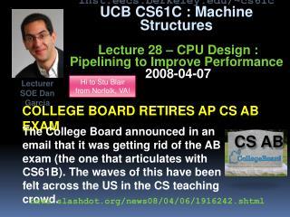 College board retires  ap cs ab  exam