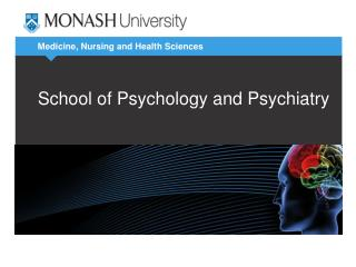 School of Psychology and Psychiatry