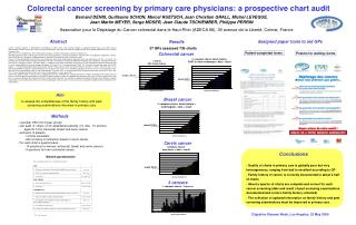 Colorectal cancer screening by primary care physicians: a prospective chart audit