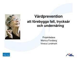 Vårdprevention  att förebygga fall, trycksår och undernäring