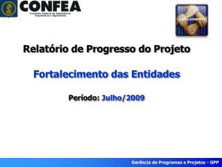 Relatório de Progresso do Projeto Fortalecimento das Entidades Período:  Julho/2009