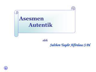 Asesmen Autentik