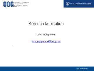 Kön och korruption