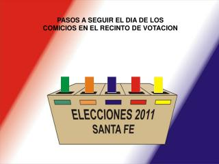 PASOS A SEGUIR EL DIA DE LOS  COMICIOS EN EL RECINTO DE VOTACION