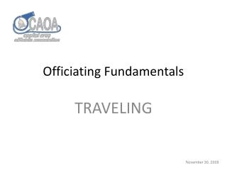 Officiating Fundamentals