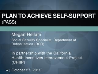 Plan to Achieve Self-Support (PASS)