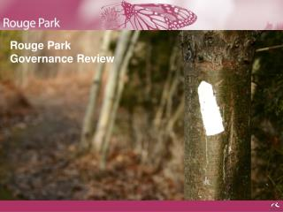 Rouge Park Governance Review