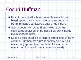 Coduri Huffman