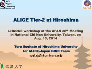 ALICE Tier-2 at Hiroshima