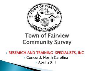 Town of Fairview Community Survey