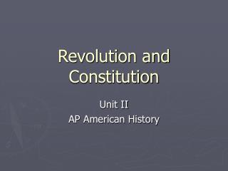 Revolution and Constitution