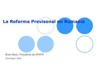 La Reforma Previsonal en Rumania