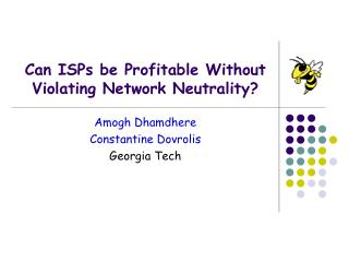 Can ISPs be Profitable Without Violating Network Neutrality?