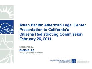 Overview of Asian Pacific American Legal Center (APALC)