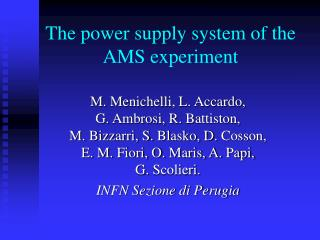 The power supply system of the AMS experiment