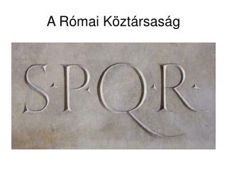 A Római Köztársaság